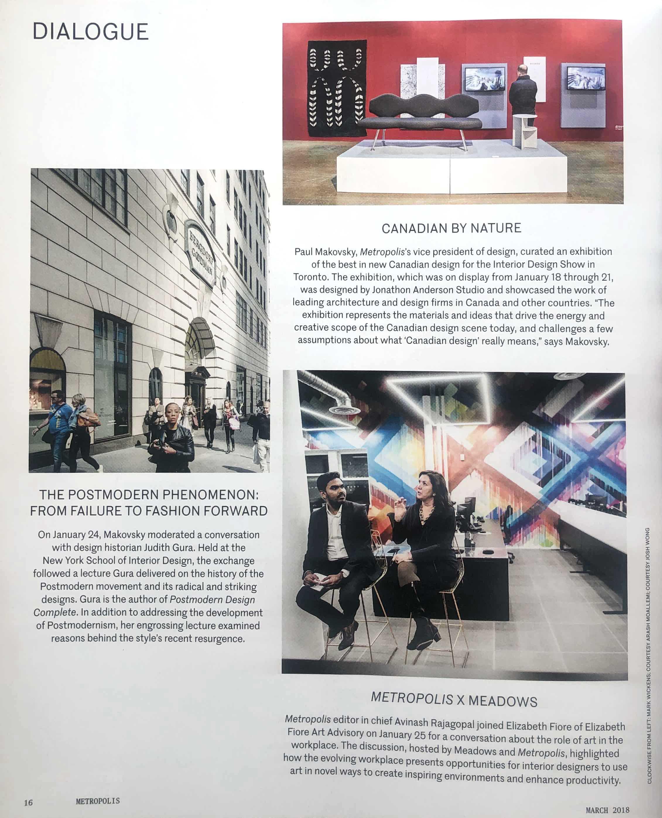 Metropolis Magazine - Elizabeth Fiore Art Advisory